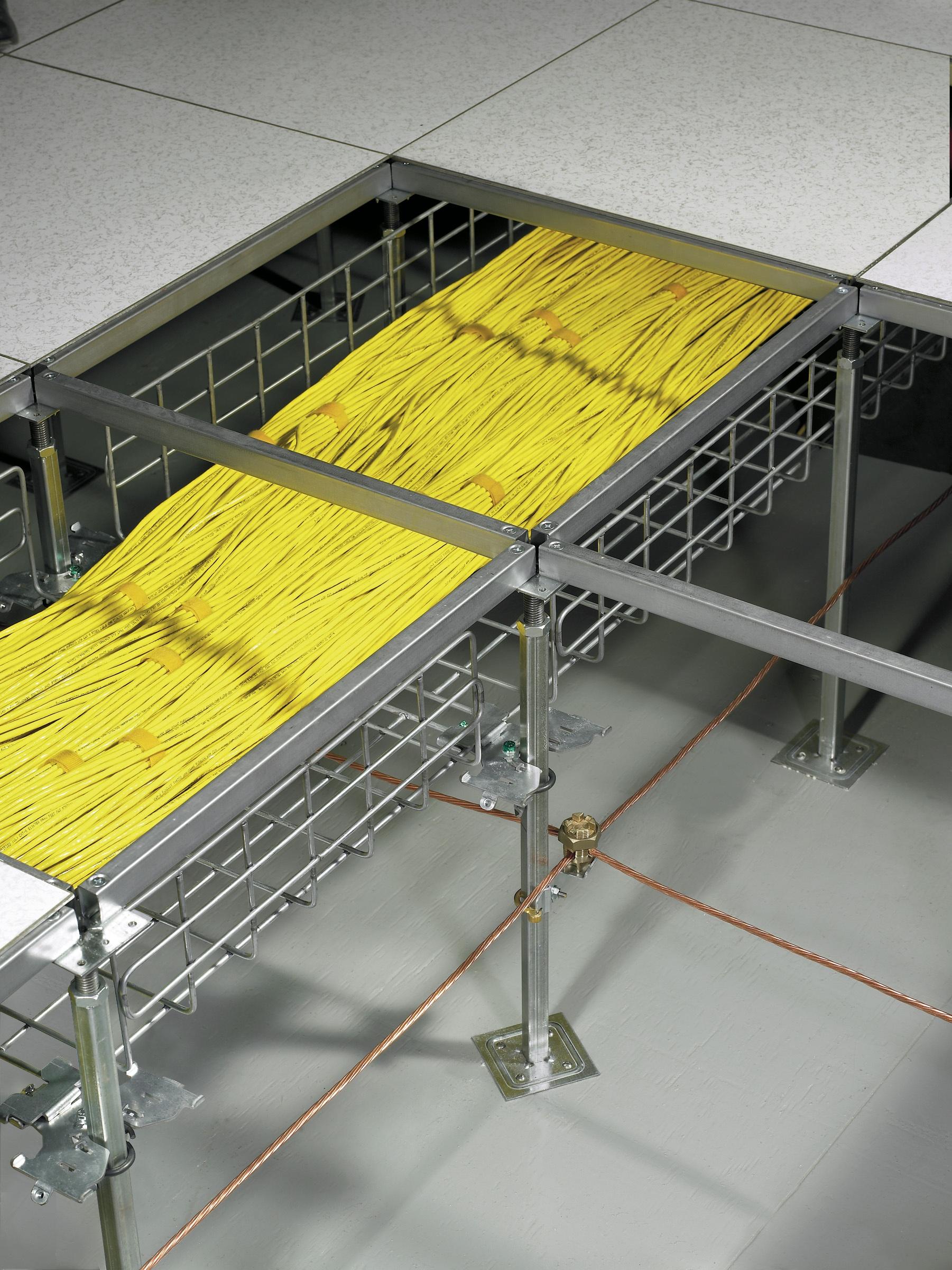 Under Floor Data Cabling
